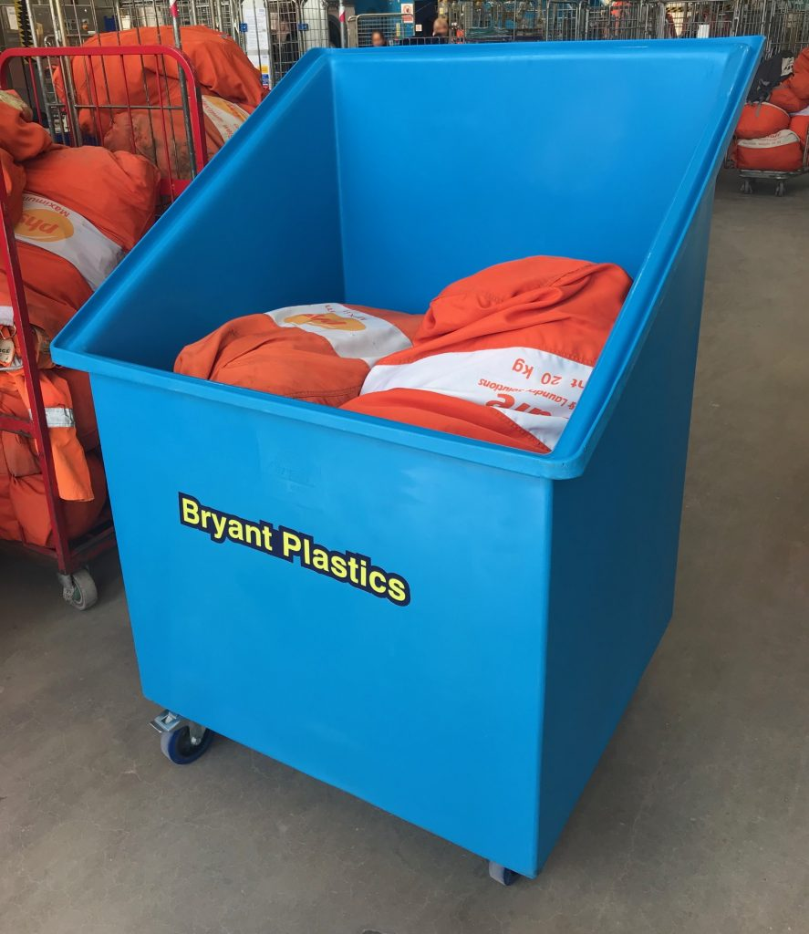 Bryant T268 Plastic Laundry Container Truck ideal for transporting linen