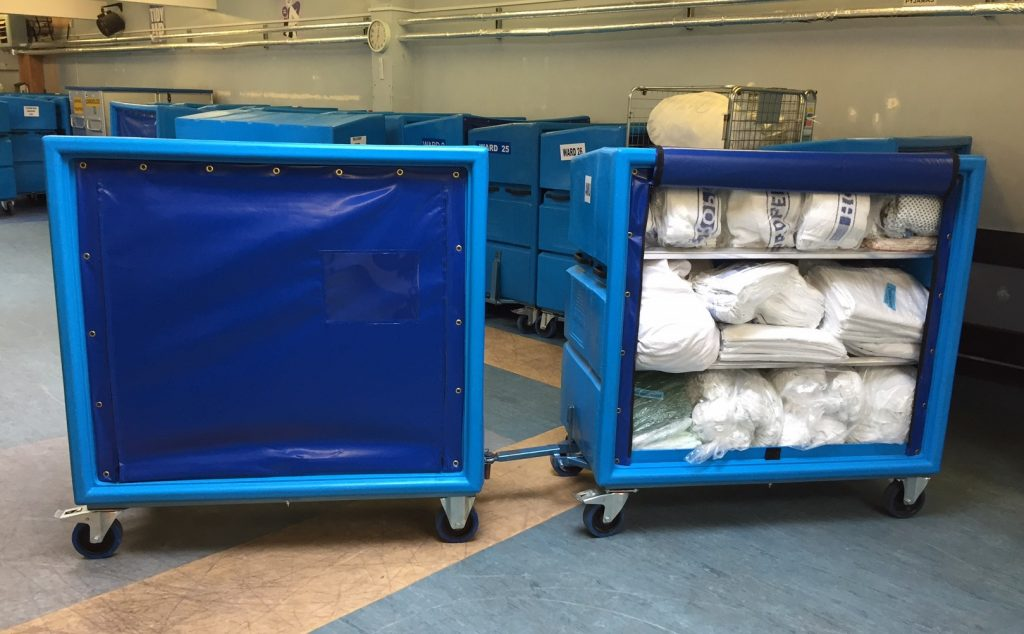 Linen Distribution Trolleys with towing facility