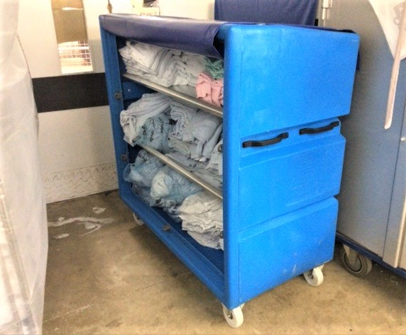 IDC293x Linen Distribution trolley for Hospital Wards and Hotels