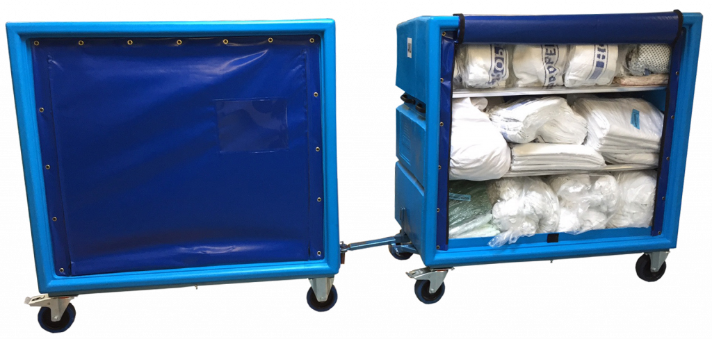 IDC293x Trolley for linen distribution can be fitted for towing