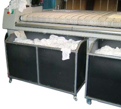 Multiple units for front of flatwork Ironer or Calender