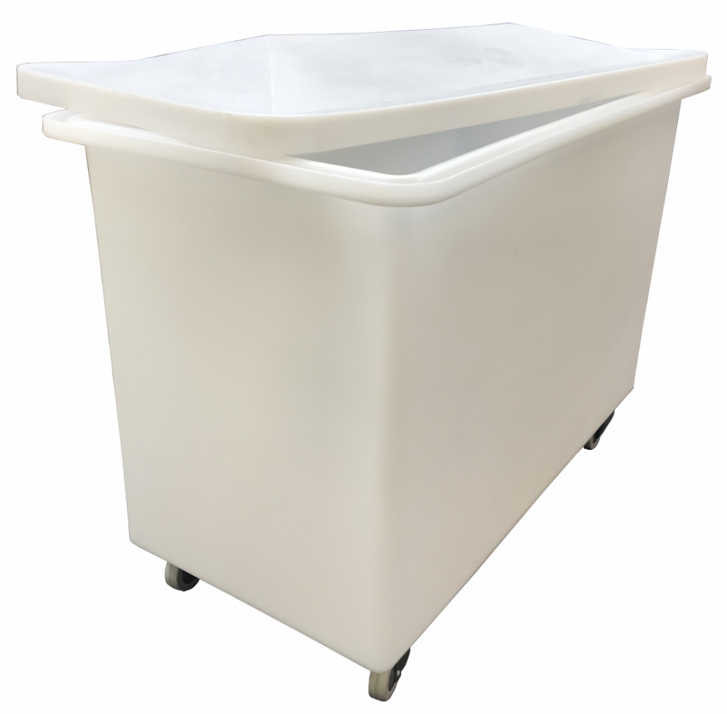 Bryant Plastics Food-Safe mobile container trolley with lid