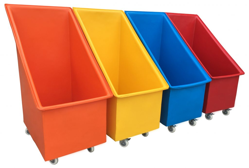 Bryants plastic Trucks come in a variety of colours to assist Sorting operations