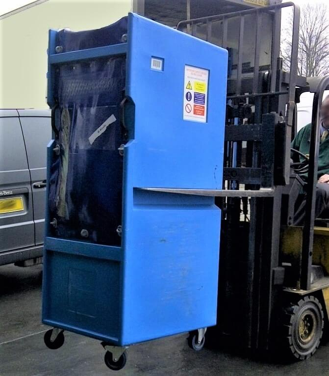 Bryant forklift-friendly model LC505 plastic roll cage