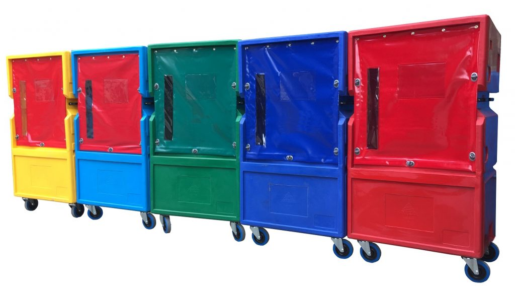 Plastic Roll cages for easy and safe materials handling