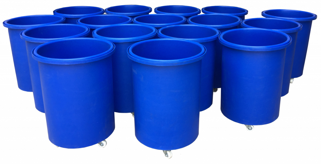 Bryant Plastic Moulded Sliver Cans made in the UK