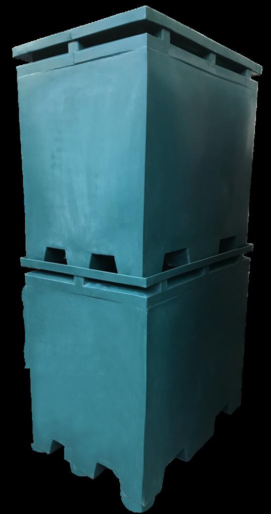 Plastic forklift boxes Stackable model FLB312