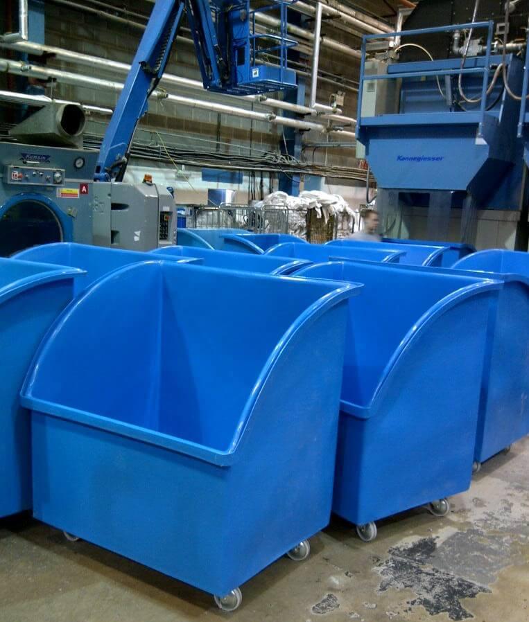 Bryant Plastic Trucks are ideal for handling high volume goods