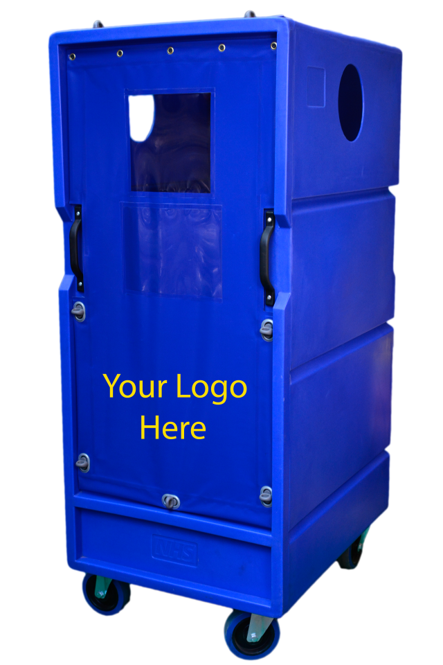 Your logo can be moulded in or printed on cover