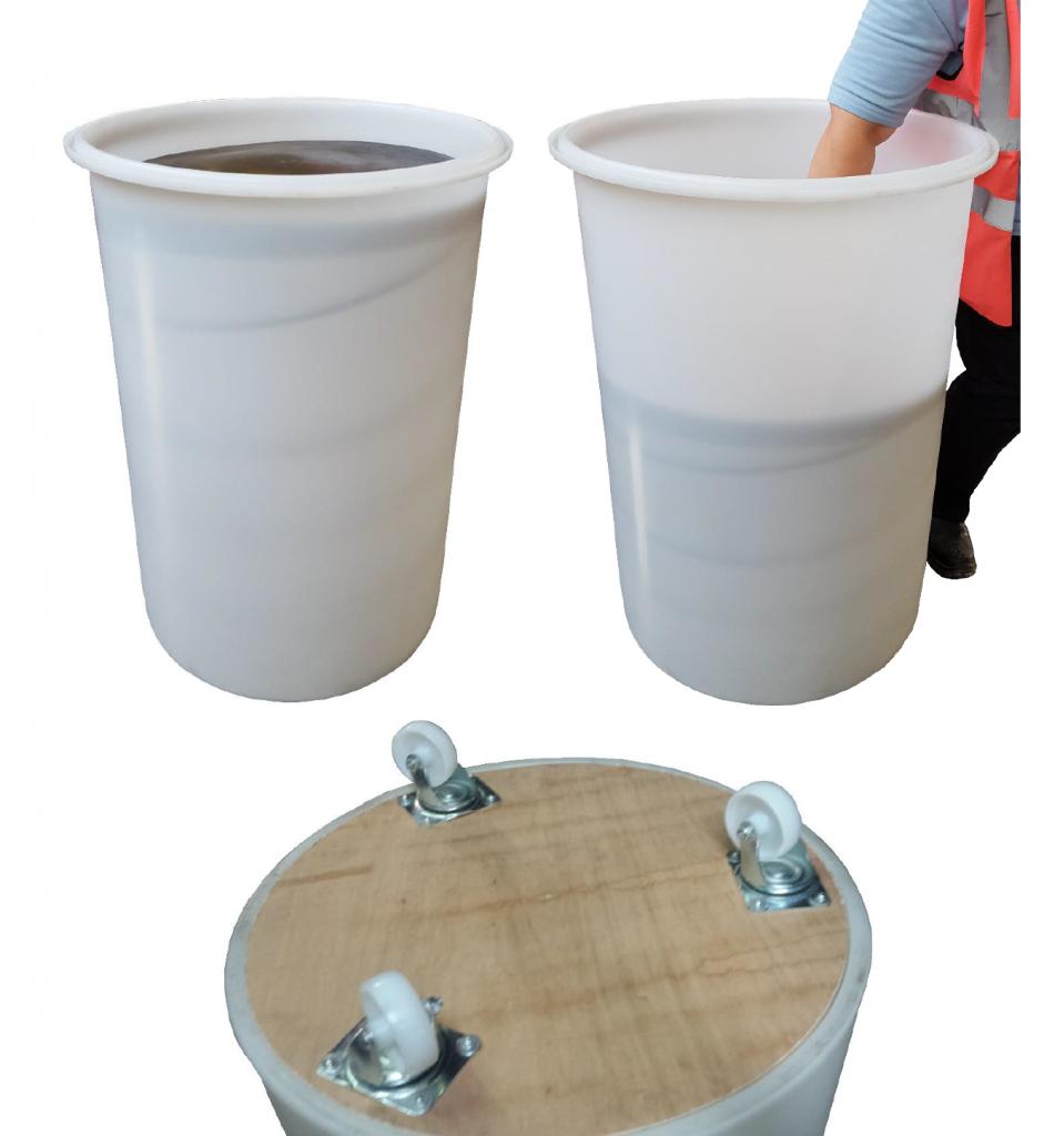 Sliver cans with spring-loaded platform and castor options