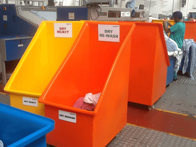 Bryants plastic container trucks come in many colours ideal for sorting
