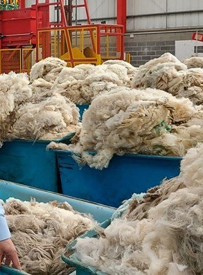 Wool skeps for fleece collection and transport