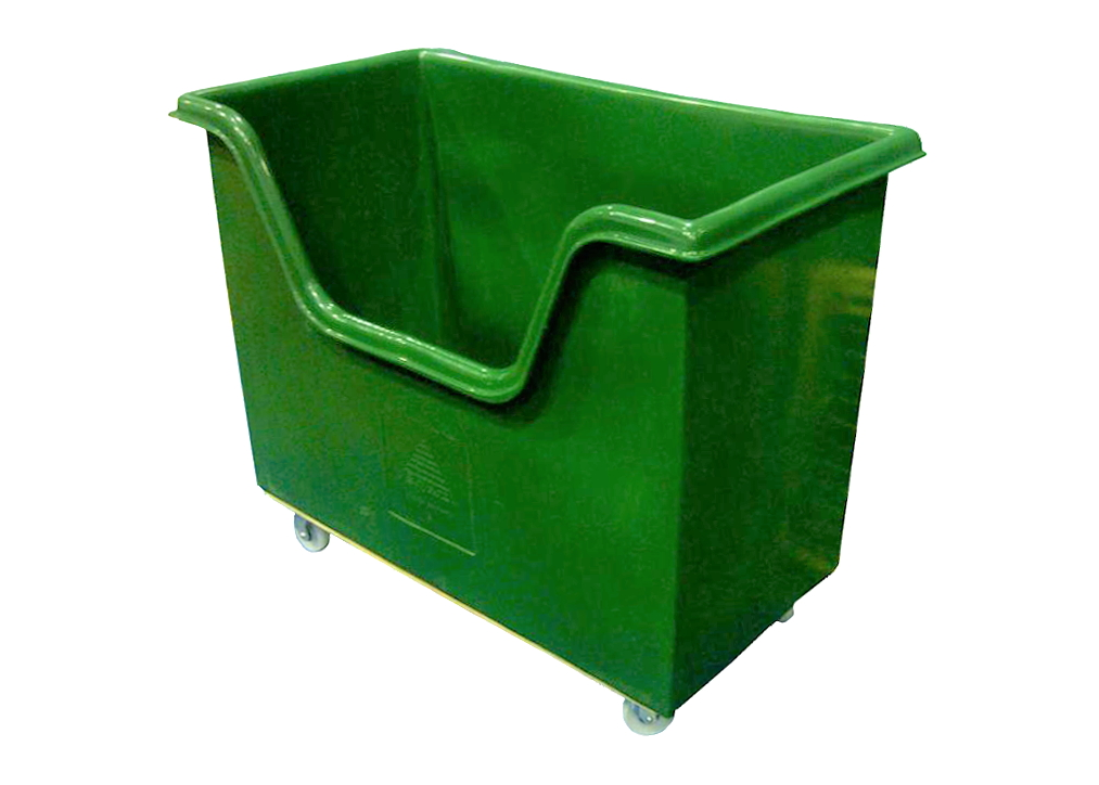 Large Plastic Trolley with Dip front for easy access