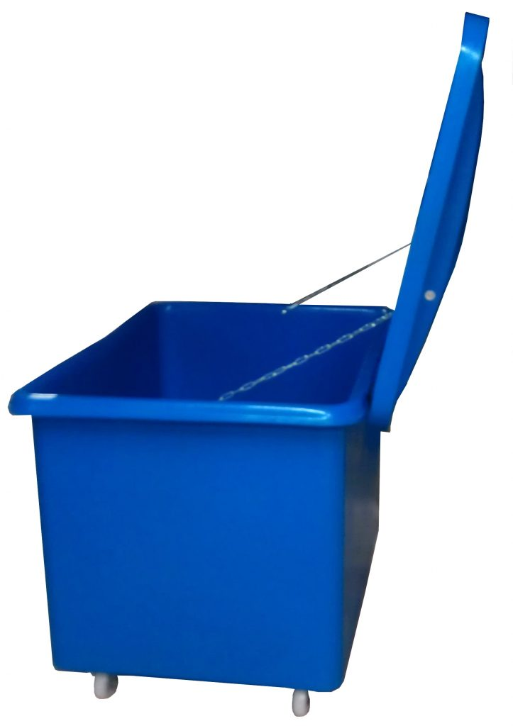 Mobile plastic bin with lid made to order